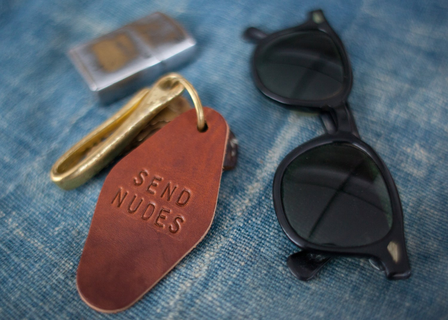 Image of Leather Hotel Key Fob