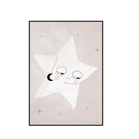 """Image of Póster """" La luna en tus ojos estrellita"""""""
