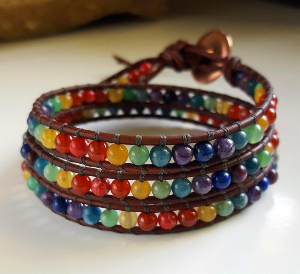 Image of Meditative Chakra Triple Wrap Bracelet