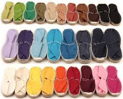 Image of flat classic espadrilles - kids and adults - 22 colors