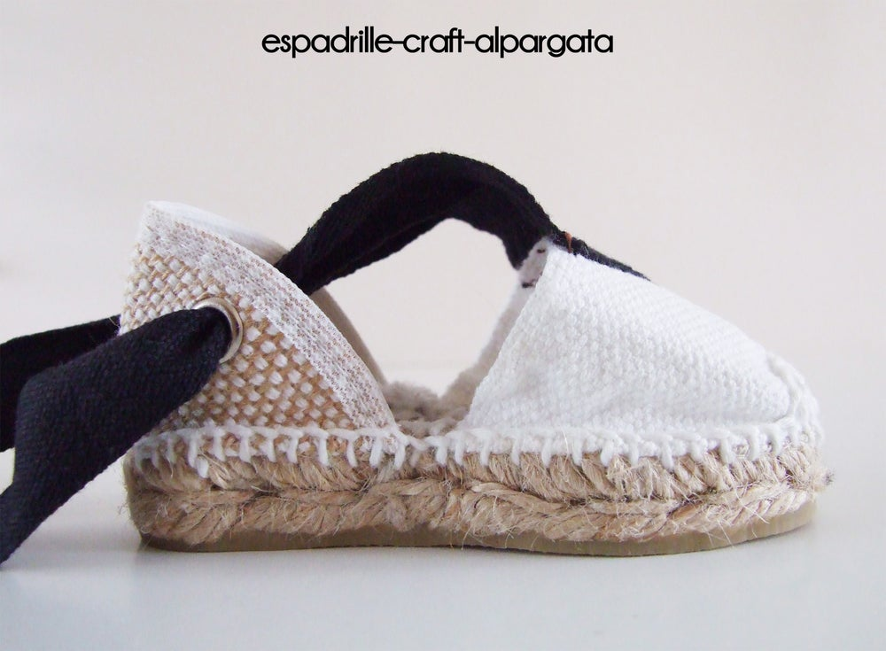 Image of Valencian espadrilles - black and white - kids and adults