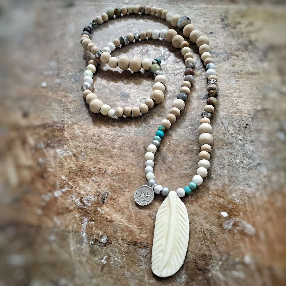 Image of Feather bone necklace