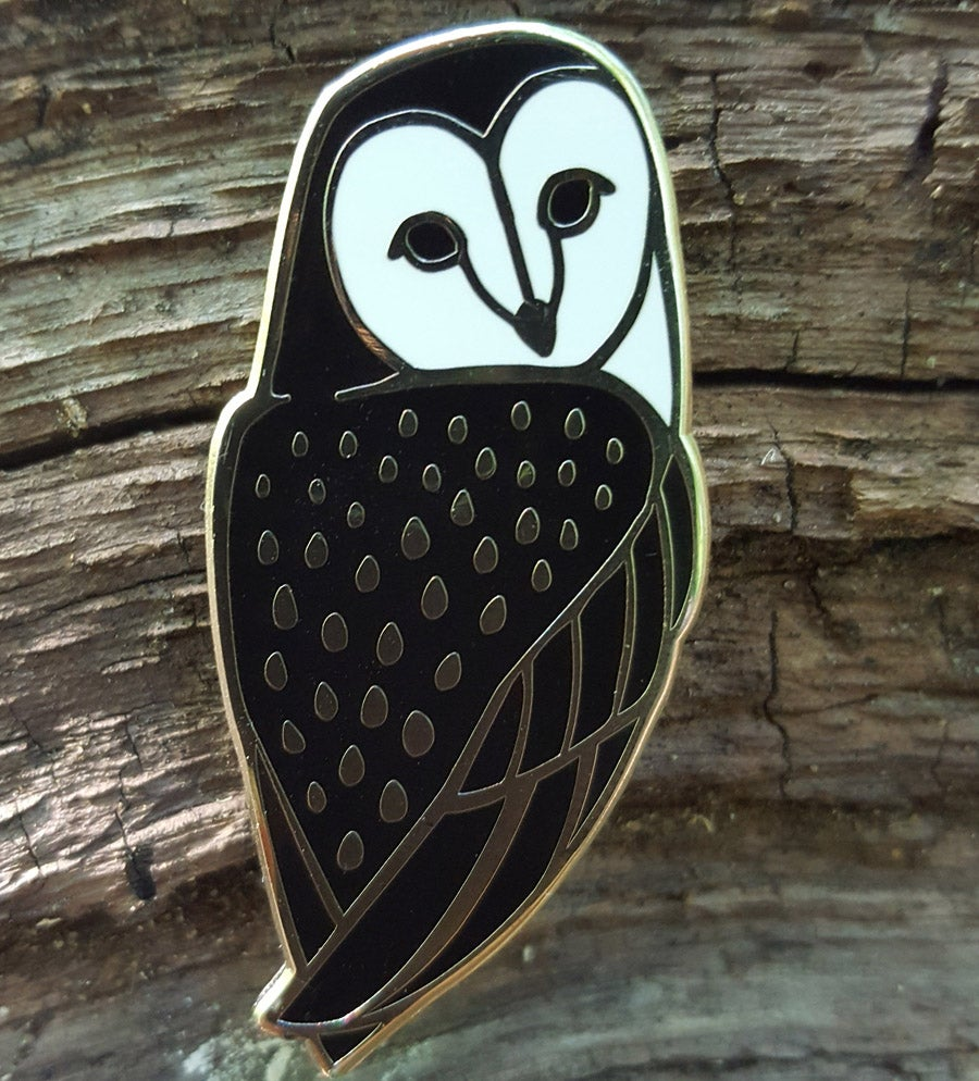 Image of Barn Owl Lapel Pin