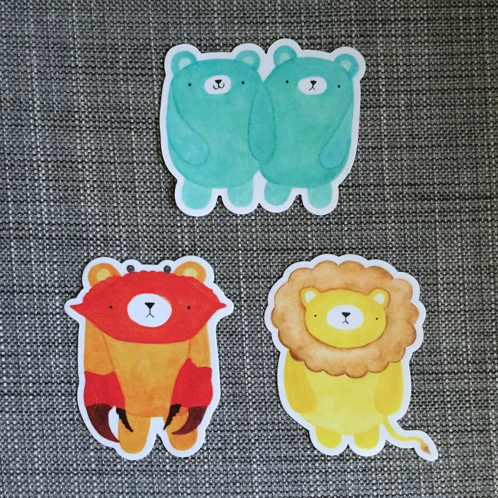 Image of pudgy bear horoscope vinyl stickers