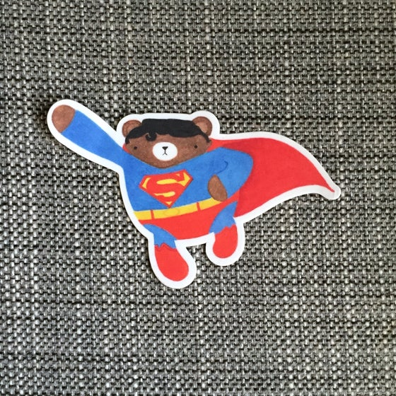 Image of superbear vinyl sticker