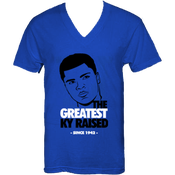 "Image of KY Raised ""Legends Series"" Greatest V-Neck Tee in KY Blue / Blk / White"