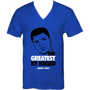 """Image of KY Raised """"Legends Series"""" Greatest V-Neck Tee in KY Blue / Blk / White"""