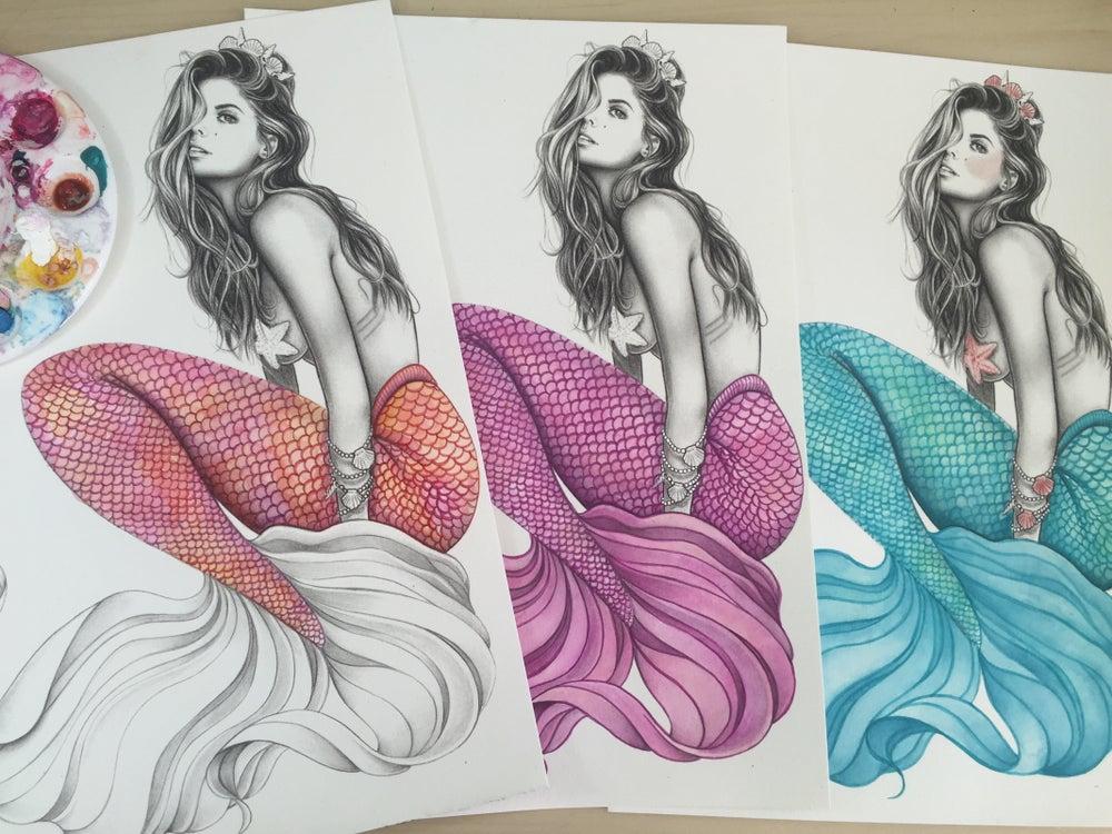Image of Custom colour mermaid