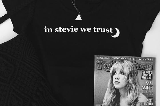 Image of in stevie we trust t-shirt.
