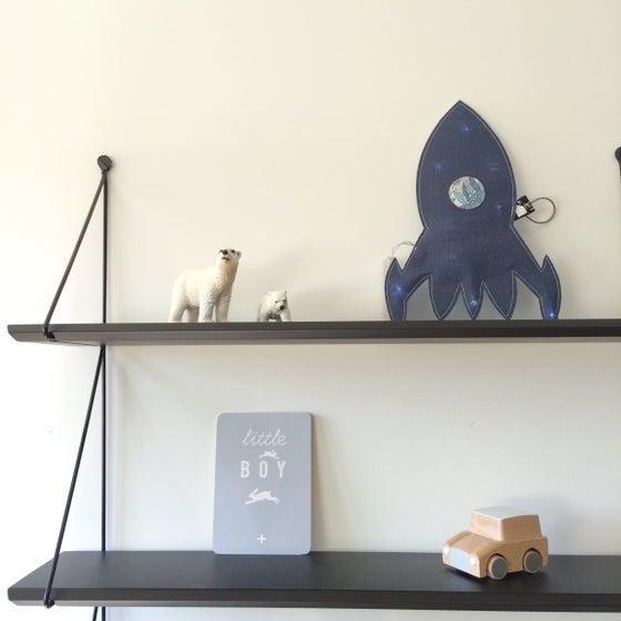 Image of Veilleuse FUSEE réversible lin et Liberty bleu