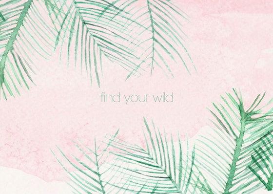 "Image of Postcard plant aquarel ""Find your wild"""