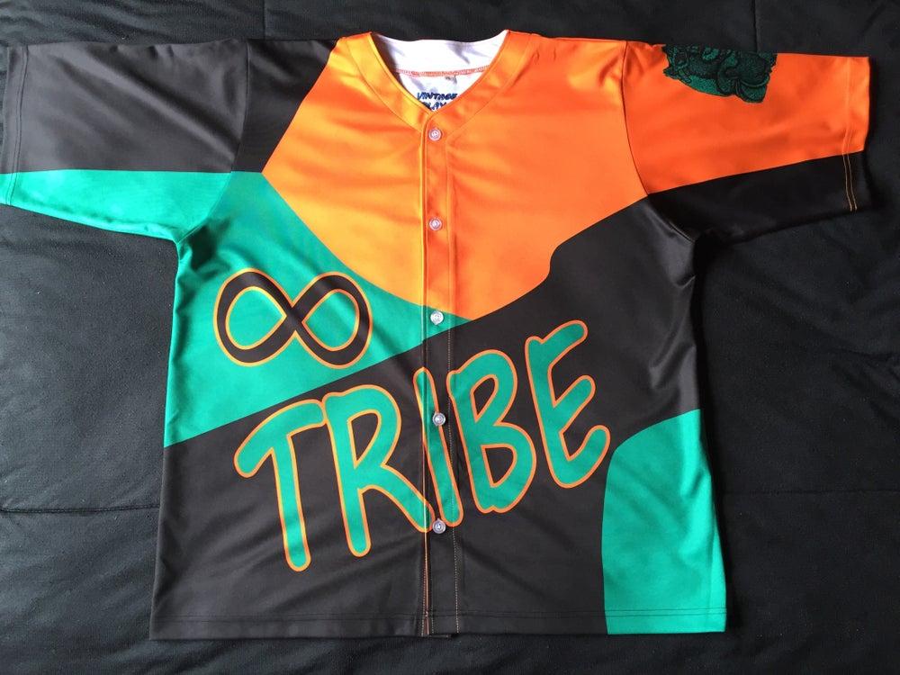 "Image of Tribe baseball jersey ""longlivepitts"""