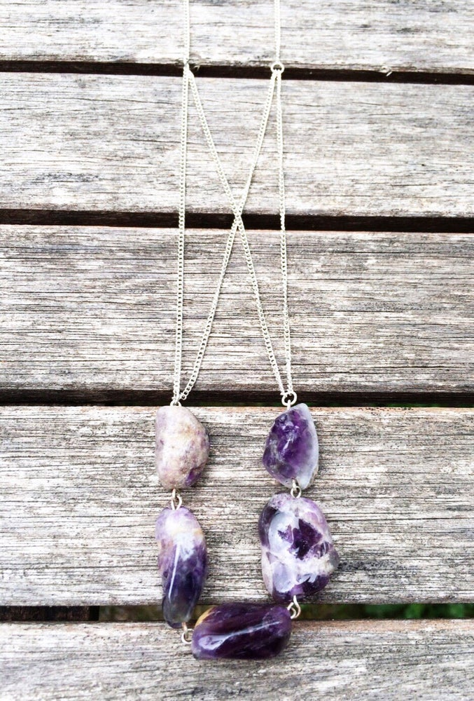 Image of Amethyst Chunk Necklace