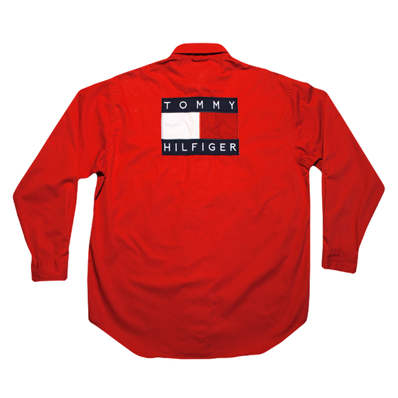 Image of Tommy Hilfiger Vintage Big Logo Shirt U.S.A.