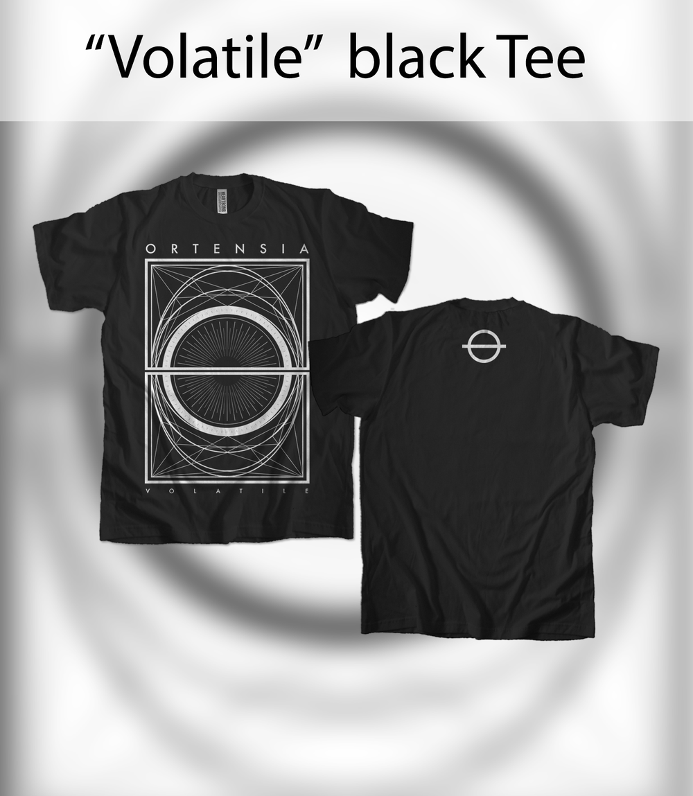 "Image of ""Volatile"" black Tee"