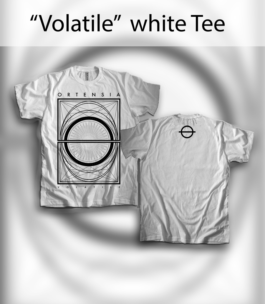 "Image of ""Volatile"" white Tee"