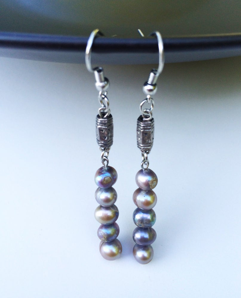 Image of Cascading Pearl Earrings