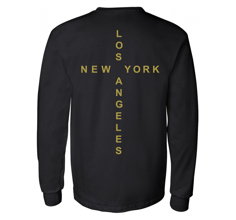Image of The Connection Long Sleeve Tee in Black