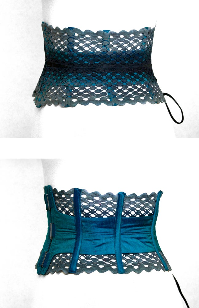 Image of Turquoise Reversible Corset Belt