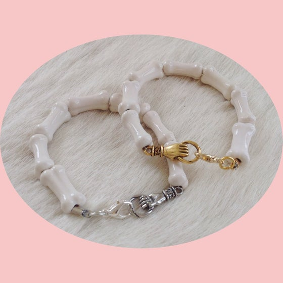 Image of Ceramic bone bracelet