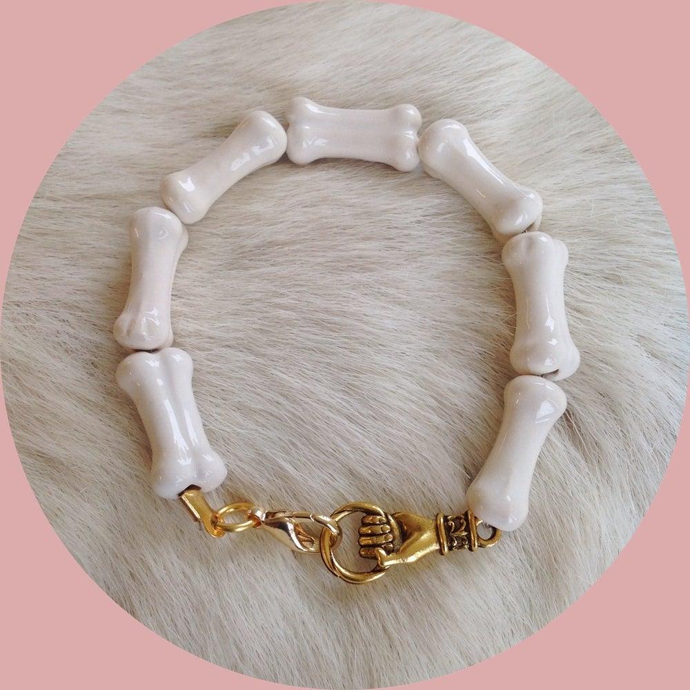 Image of Ceramic bone bracelet