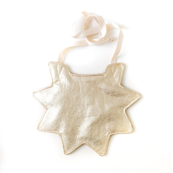 Image of star reversible leather bibs