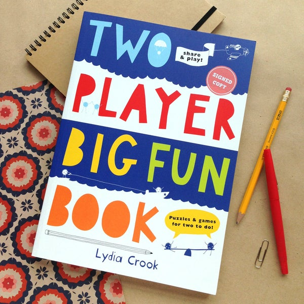 Image of TWO PLAYER BIG FUN BOOK - signed copy