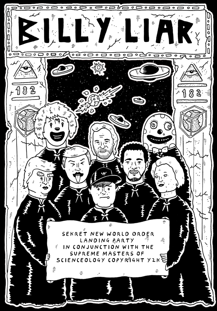 Image of BILLY LIAR - Tom Delonge Illuminati/Scienceology pre-order