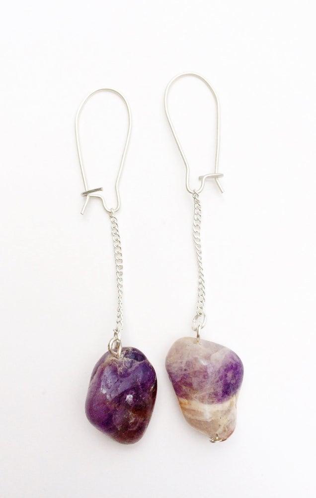 Image of Amethyst Swing Earrings