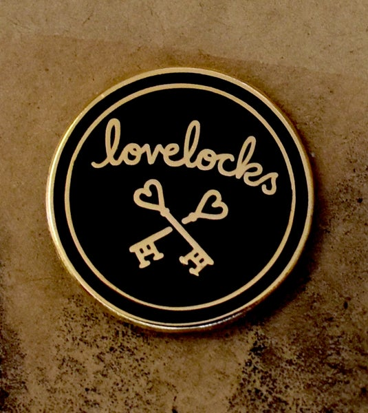 Image of Lovelocks Logo Enamel Badge