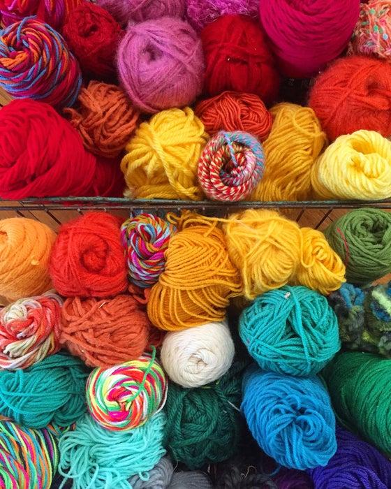 Image of Rainbow Yarn Print