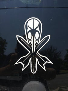 Image of Gas Mask Die Cut Sticker