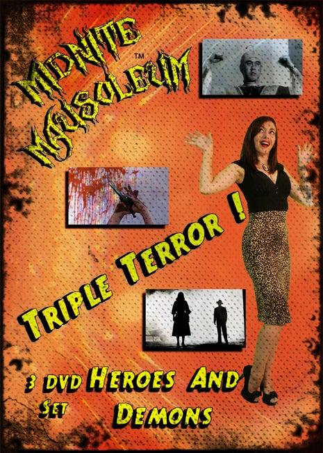 """Image of Midnite Mausoleum Triple Terror 2015 """"Heroes & Demons"""" DVD set"""