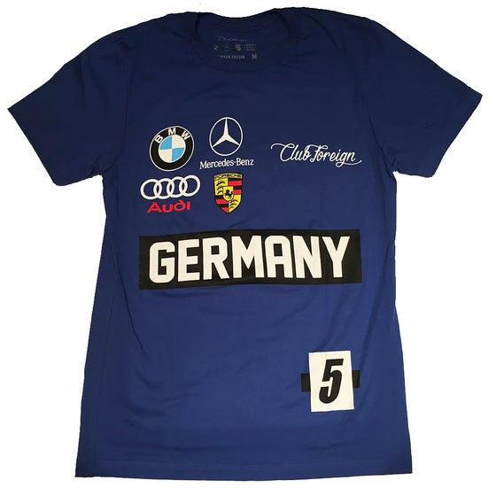 Image of Club Foreign Blue Germany Race T-Shirt