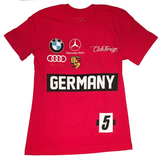 Image of Club Foreign Red Germany Race T-Shirt