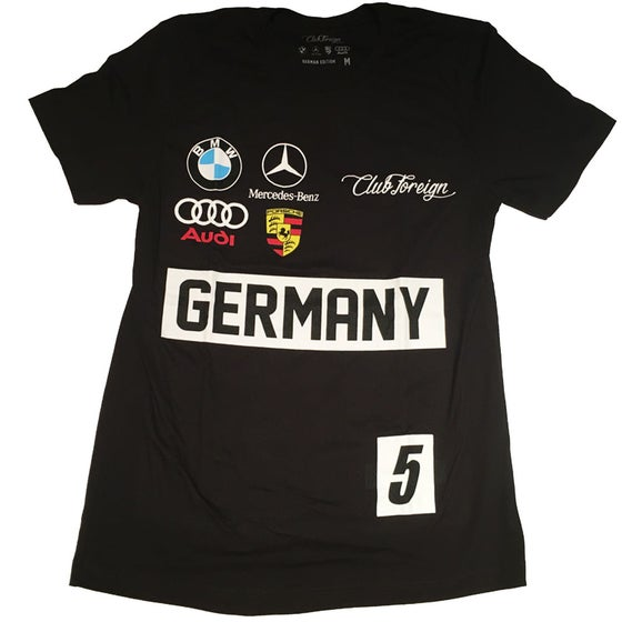 Image of Club Foreign Black Germany Race T-Shirt