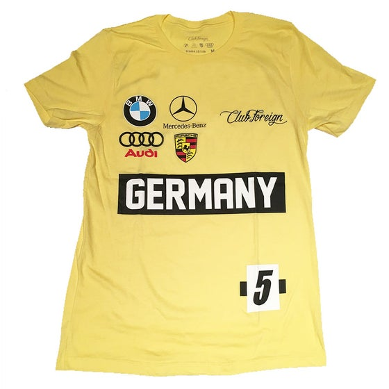 Image of Club Foreign Yellow Germany Race T-Shirt