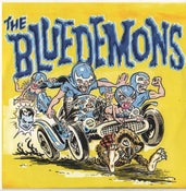 """Image of 7"""" The Blue Demons : Cougar Country.  Ltd Edition Blue Vinyl."""