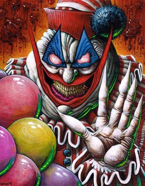 Image of 'Pogo the Clown' Art Print