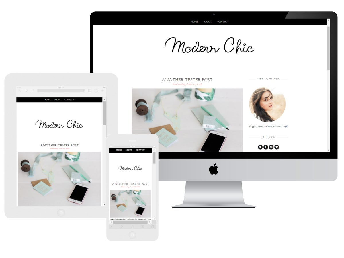 Beautify your blog premade designs for Big cartel design templates