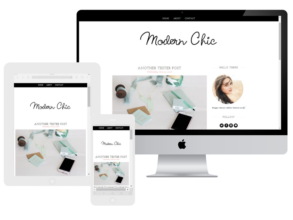 Image of Modern Chic Blogger Template