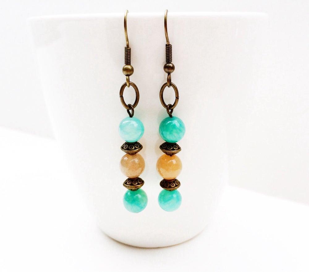 Image of Jade Copper Earrings
