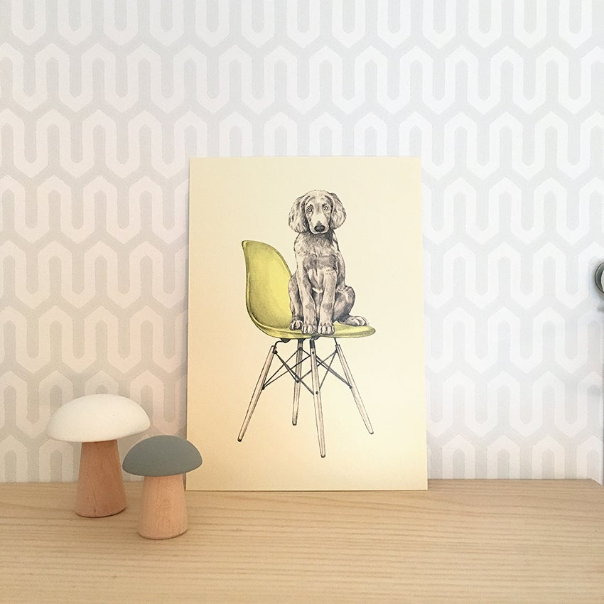Image of Carte postale simple Chien-Eames