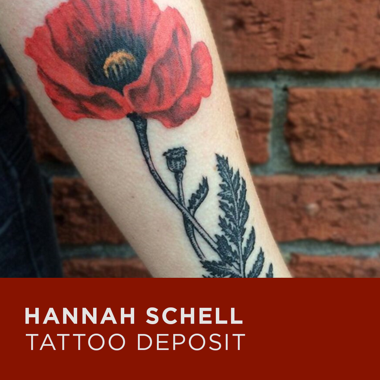 Image of Tattoo Deposit for Hannah Schell