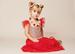 Image of Lively Red & Gold Glitter Dress, Valentine's Day, Flutter Sleeve, Sparkle Sequin Gold Princess