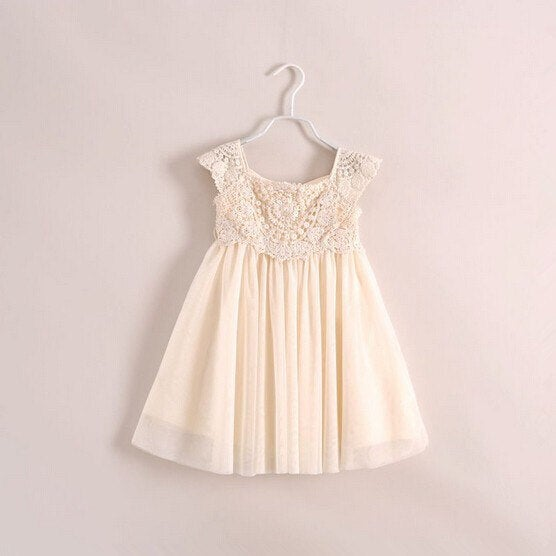 Infantile Grace Vintage Cream Ivory Beige Dress Holiday