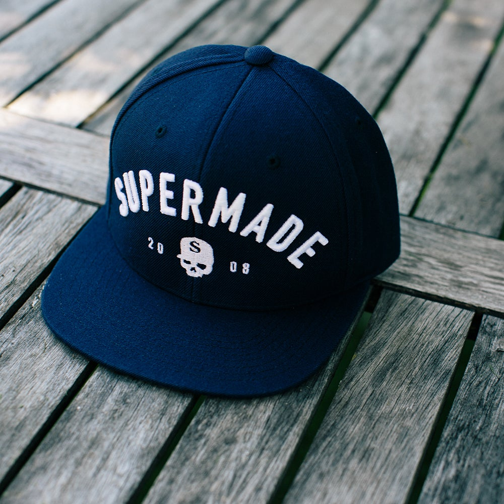 Image of Supermade Snapback NAVY BLUE
