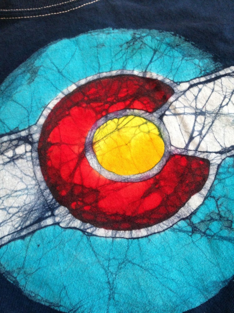 Image of Colorado Flag Batik T