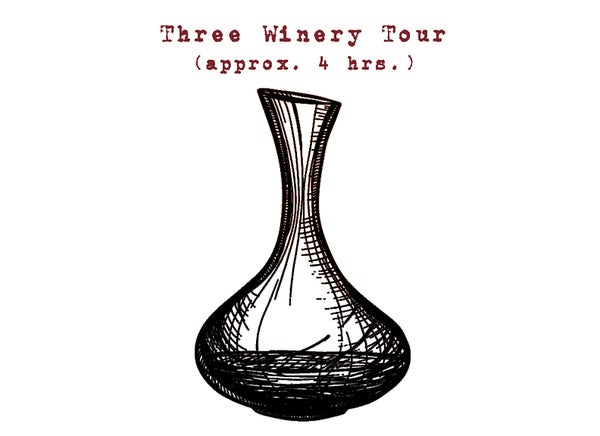 Image of Three Winery Tour - Approx. 4 hrs