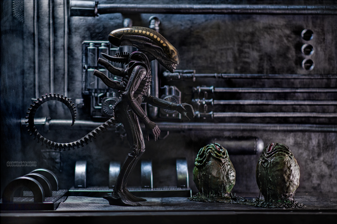 Image of Alien - 11x17 High Gloss Aluminum Print Limited Edition #1 of 60